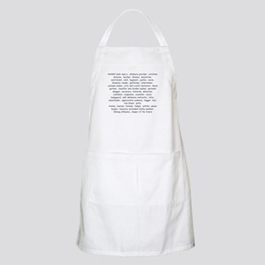 Defination Of A Nanny BBQ Apron