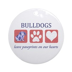 Bulldog Lover Gifts Ornament (Round)
