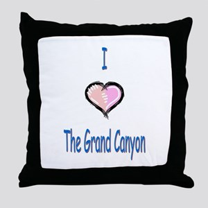 I Love the Grand Canyon Throw Pillow