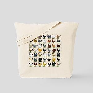 49 Hen Breeds Tote Bag