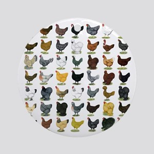 49 Hen Breeds Ornament (Round)