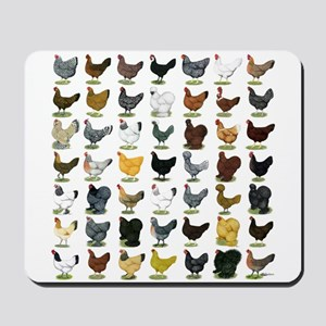 49 Hen Breeds Mousepad