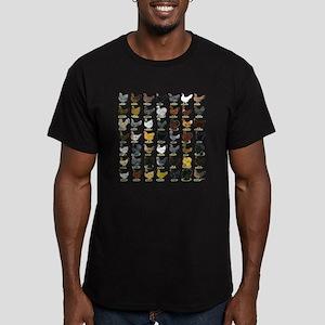 49 Hen Breeds Men's Fitted T-Shirt (dark)