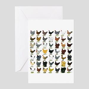49 Hen Breeds Greeting Card