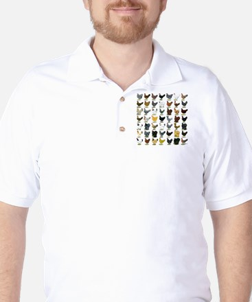49 Hen Breeds Golf Shirt