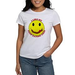 Poop Eating Smiley Face Women's T-Shirt
