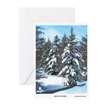 Snow In The Pines Greeting Cards (Pk of 20)