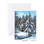 Snow In The Pines Greeting Card