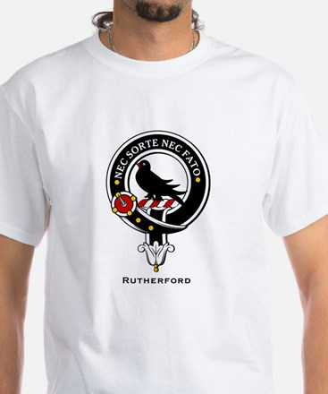 Rutherford Clan Crest / Badge White T-Shirt