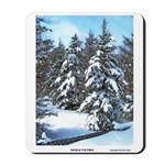 Snow In The Pines Mousepad