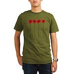Poppies Organic Men's T-Shirt (dark)