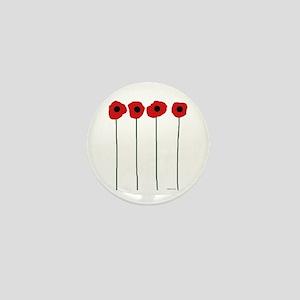 Poppies Mini Button