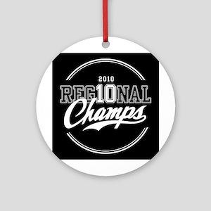2010 Regional Champs Ornament (Round)