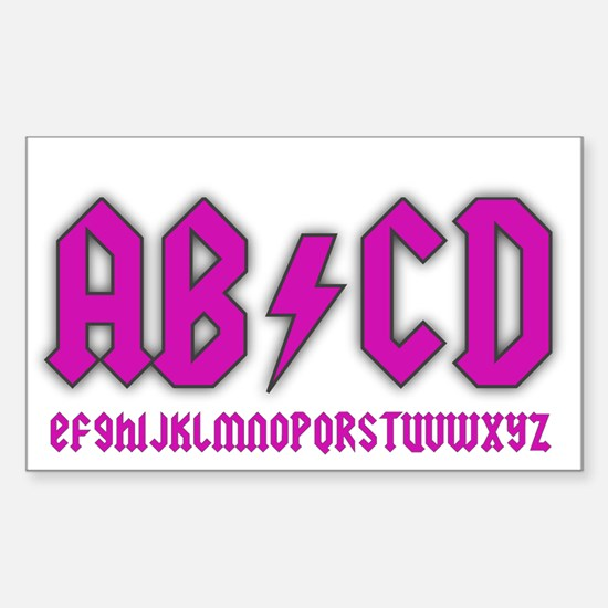 AB/CD Sticker (Rectangle)