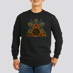 SOLOMON'S MAGIC PENTACLES Long Sleeve Dark T-Shirt