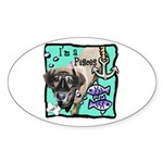 I'm a Pisces Sticker (Oval 10 pk)