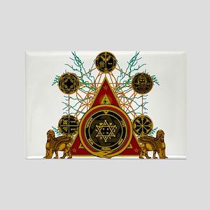 SOLOMON'S MAGIC PENTACLES Rectangle Magnet