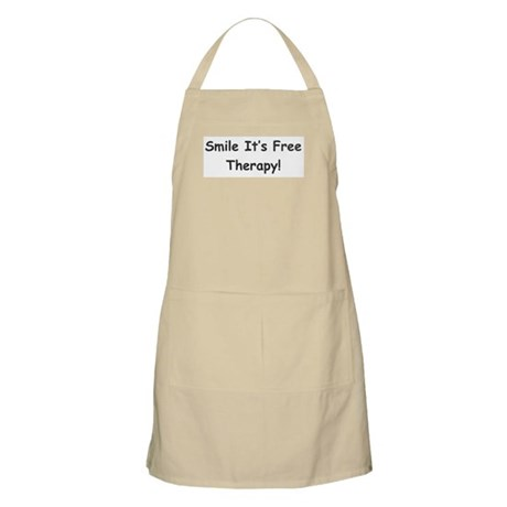 Smile It's Free Therapy! BBQ Apron