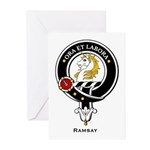 Ramsay Clan Crest / Badge Greeting Cards (Package