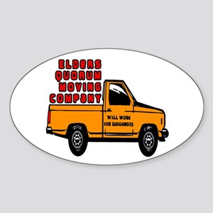 Elders Quorum Moving Company Sticker (Oval)