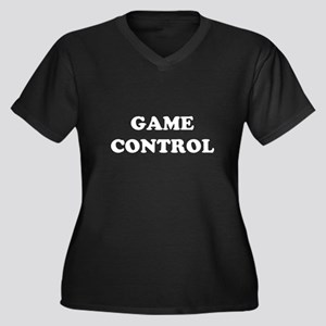 Came Control Women's Plus Size V-Neck Dark T-Shirt