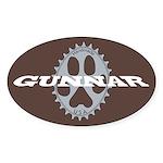Gunnar Chocolate Sticker (Oval)