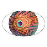 Peacock Sticker (Oval 10 pk)