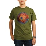 Peacock Organic Men's T-Shirt (dark)