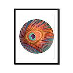 Peacock Framed Panel Print