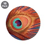 """Peacock 3.5"""" Button (10 pack)"""