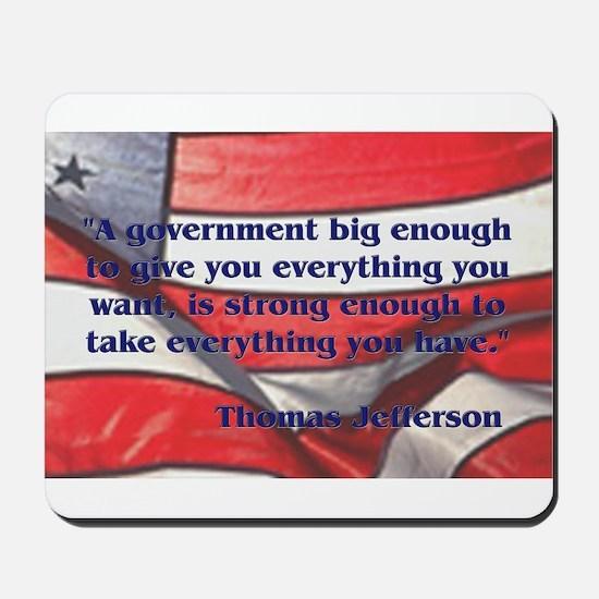 Big Government - Jefferson Mousepad