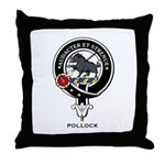 Pollock Clan Crest / Badge Throw Pillow