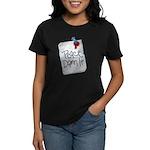 Peace Damn It 2 Women's Dark T-Shirt