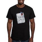 Peace Damn It 2 Men's Fitted T-Shirt (dark)