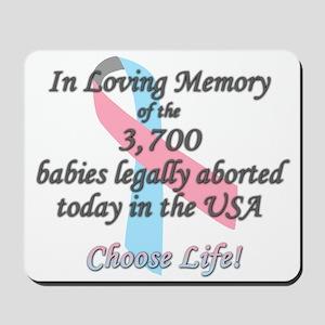Pro Life Ribbon Anti-Abortion Mousepad