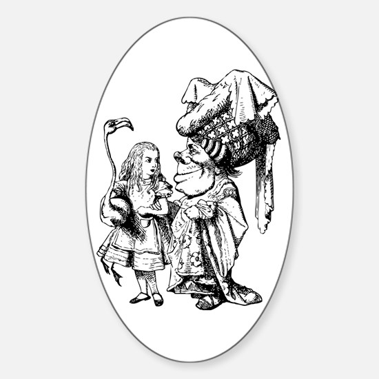 Alice and the Duchess Sticker (Oval)