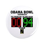 """Obama Bowl 3.5"""" Button (100 pack)"""