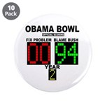 """Obama Bowl 3.5"""" Button (10 pack)"""