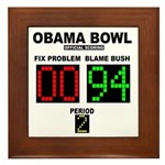 Obama Bowl Framed Tile