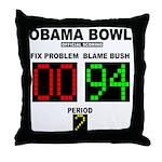 Obama Bowl Throw Pillow