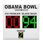 Obama Bowl Tile Coaster