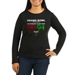 Obama Bowl Women's Long Sleeve Dark T-Shirt