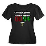 Obama Bowl Women's Plus Size Scoop Neck Dark T-Shi