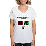 Obama Bowl Women's V-Neck T-Shirt