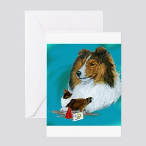 sheltie rally Greeting Card