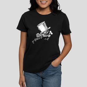 Mad Hatter Striding Right Women's Dark T-Shirt