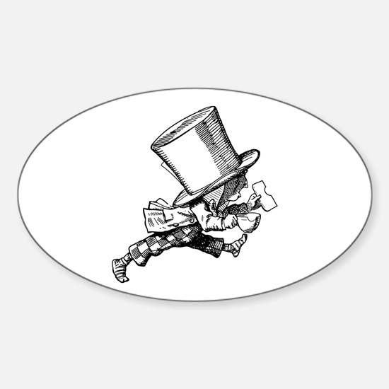 Mad Hatter Striding Right Sticker (Oval)