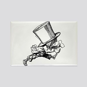 Mad Hatter Striding Right Rectangle Magnet