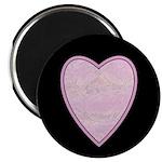 "Pink Heart 2.25"" Magnet (10 pack)"
