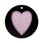 Pink Heart Ornament (Round)